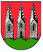 Dieses Bild stellt das Wappen einer deutschen Körperschaft des öffentlichen Rechts dar. Nach § 5 Abs. 1 UrhG (Deutschland) sind amtliche Werke wie Wappen gemeinfrei.
